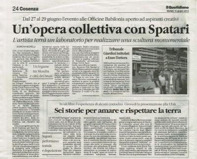Il Quotidiano della Calabria 18_06_2013