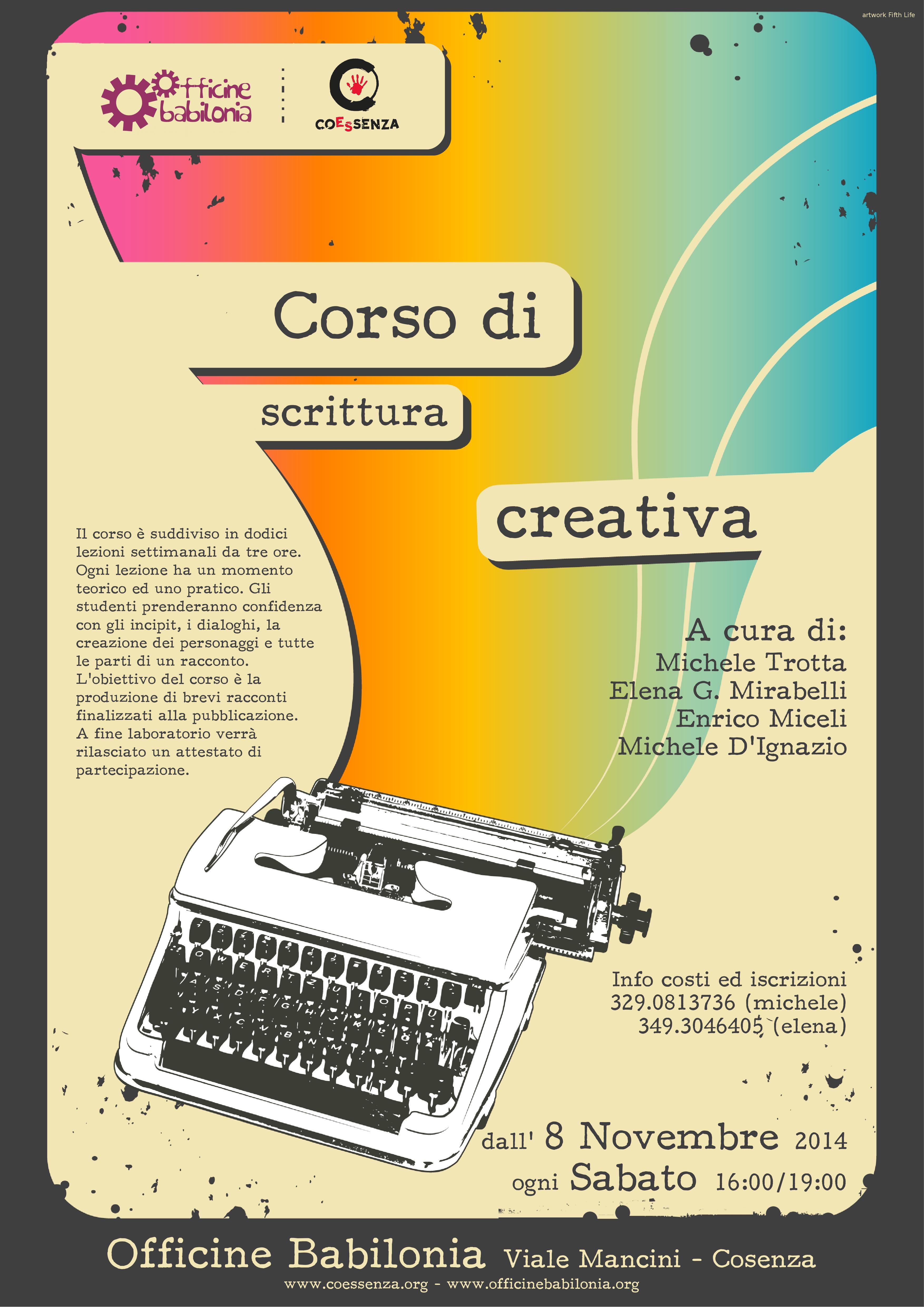 corso scrittura creativa